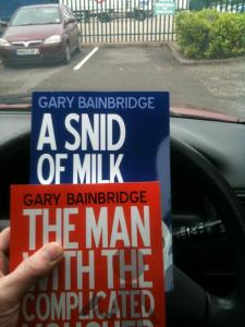 Two books in car