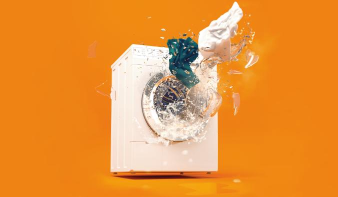 An exploding washing machine